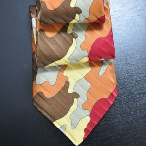NWT Brioni Orange/Brown/Red WILD Tie NEW
